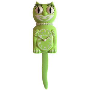 Urban Outfitters Chartreuse Lady Kit-Cat Clock